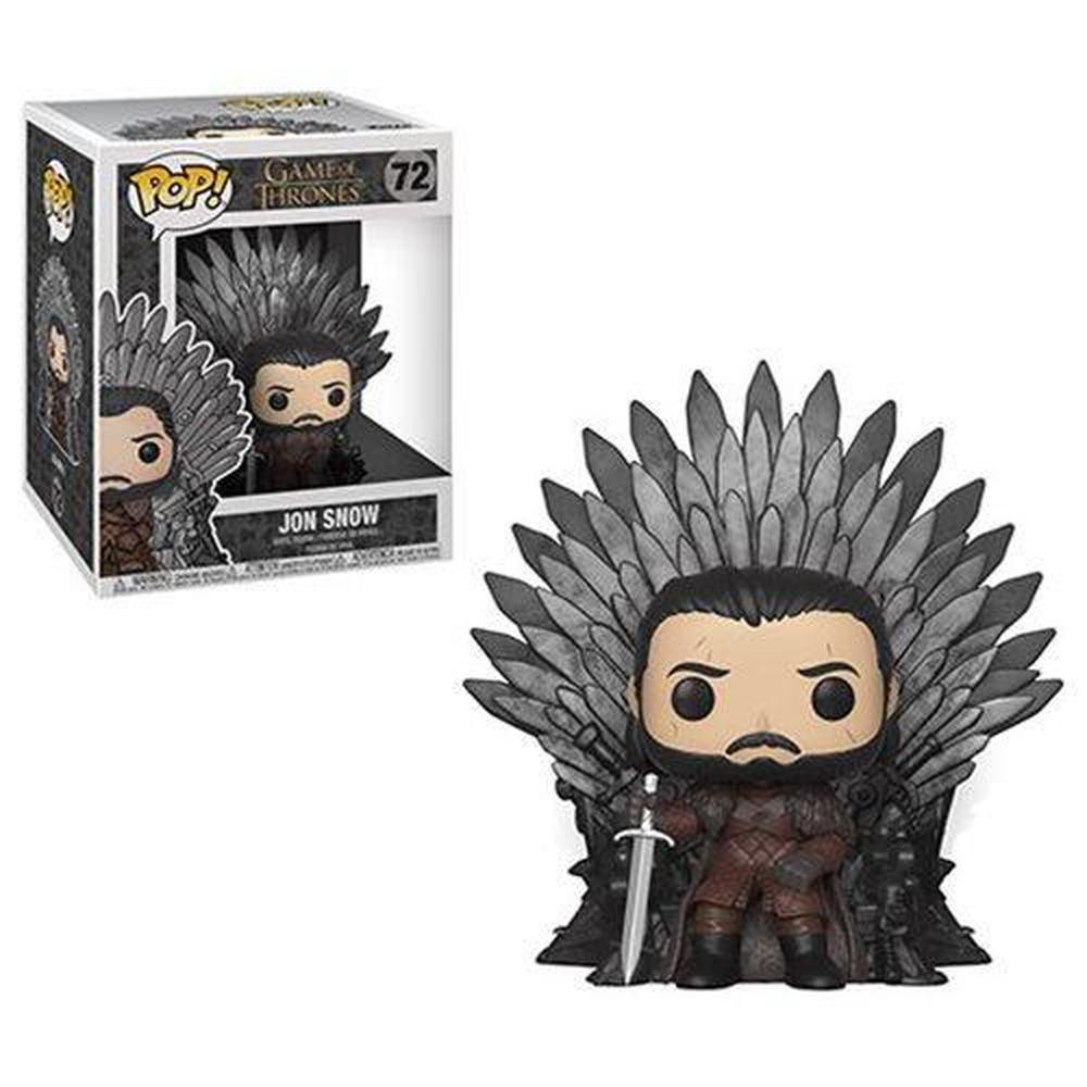 Funko Pop! Television: Game of Thrones Jon Snow Sitting on Throne Deluxe Pop! (Pre-Order)-Fumble Pop!