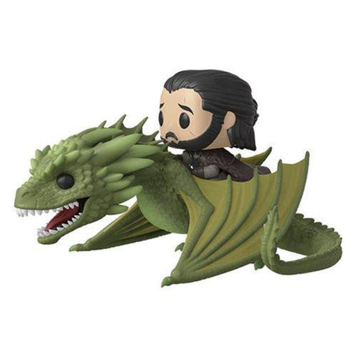 Funko Pop! Television: Game of Thrones Rhaegal Pop! Vinyl Ridez with Jon Snow Figure (Pre-Order)-Fumble Pop!