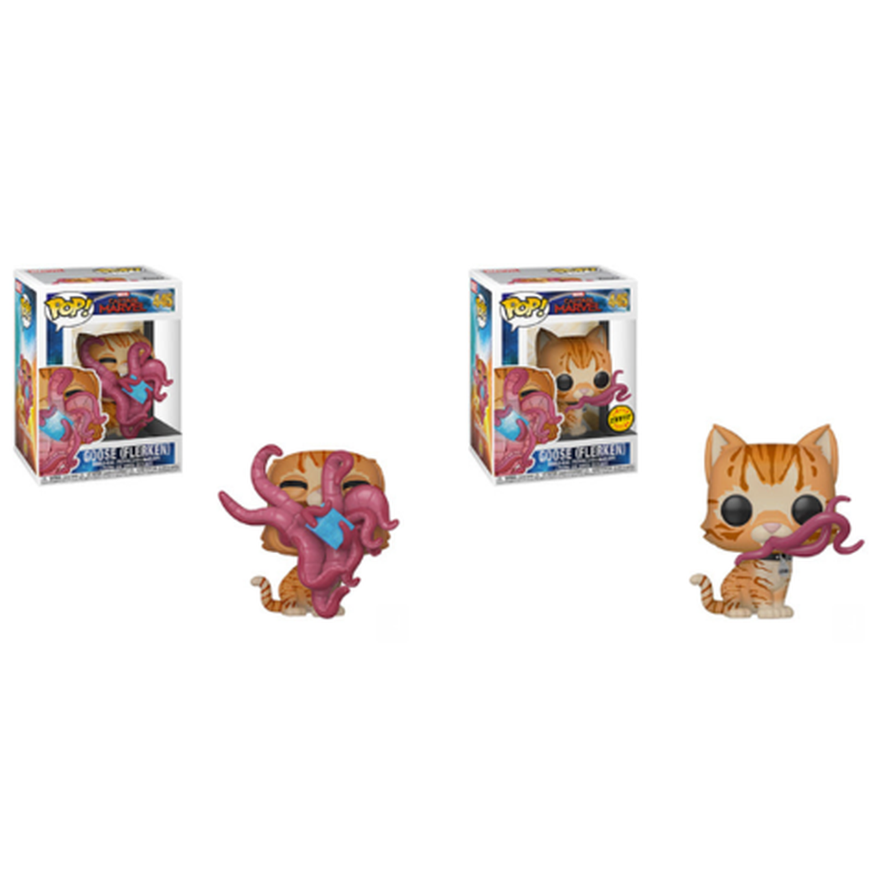 Funko Pop! Movies: Captain Marvel Goose (Flerken) CHASE & Common (Pre-Order)-Fumble Pop!