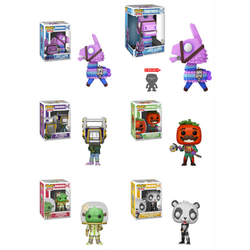 Funko Pop! Games: Fortnite Complete Set Of 6 With 10In Lama Pop! Vinyl Figure (Pre-Order)-Fumble Pop!
