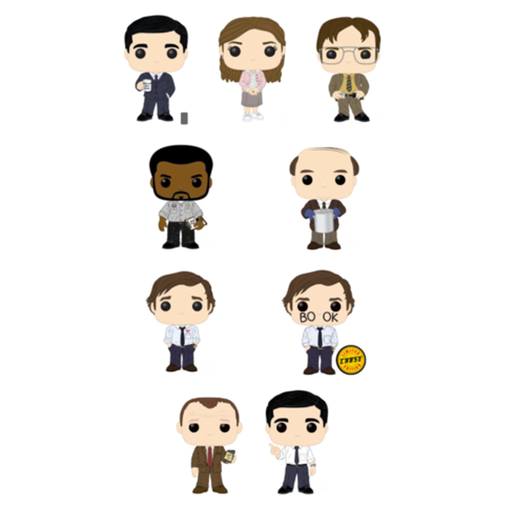 Funko Pop! Television: The Office Complete Set of 9 CHASE Included (Pre-Order)-Fumble Pop!