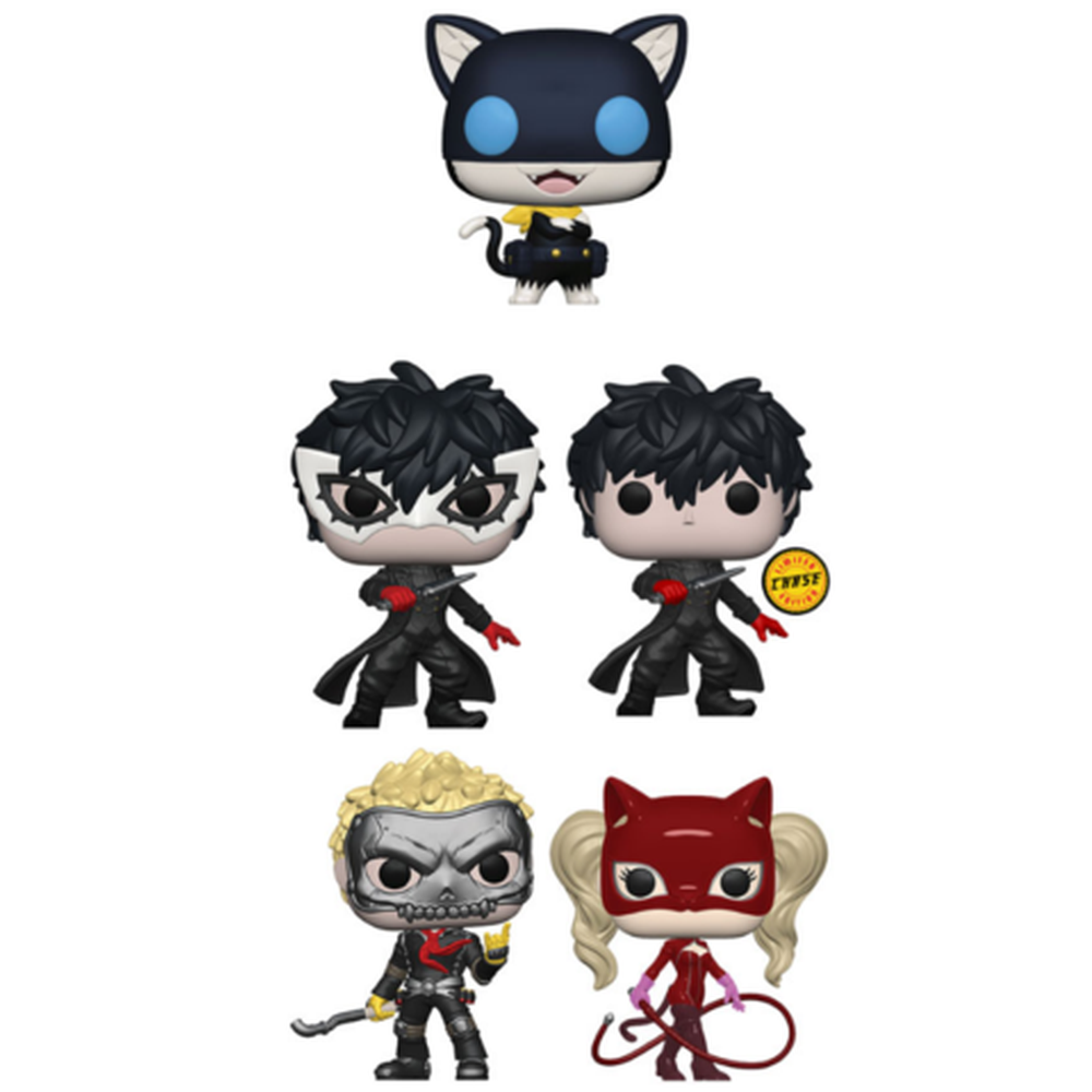Funko Pop! Anime: Persona 5 Complete Set Of 5 Chase Included (Pre-Order)-Fumble Pop!