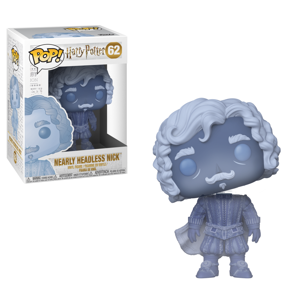 Funko Pop! Pop HP: S5- Nearly Headless Nick (blue translucent)-Fumble Pop!