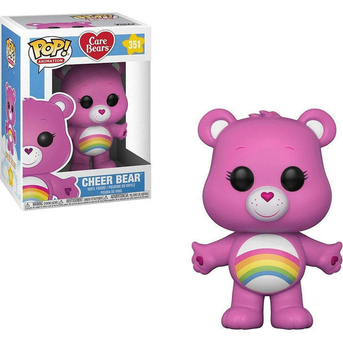 Funko Pop! Animation: Care Bears - Cheer Bear w/glow Chase-Fumble Pop!