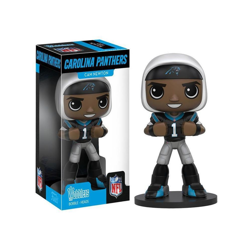 FUNKO WOBBLER SPORTS: NFL - Cam Newton (Vinyl Figure)-Fumble Pop!
