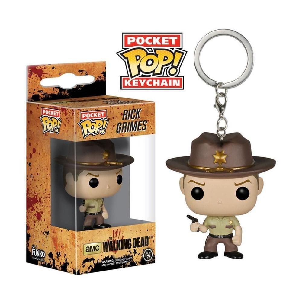 Funko Pop! Keychain: The Walking Dead - Rick Grimes (Limited Edition, Keychain)-Fumble Pop!