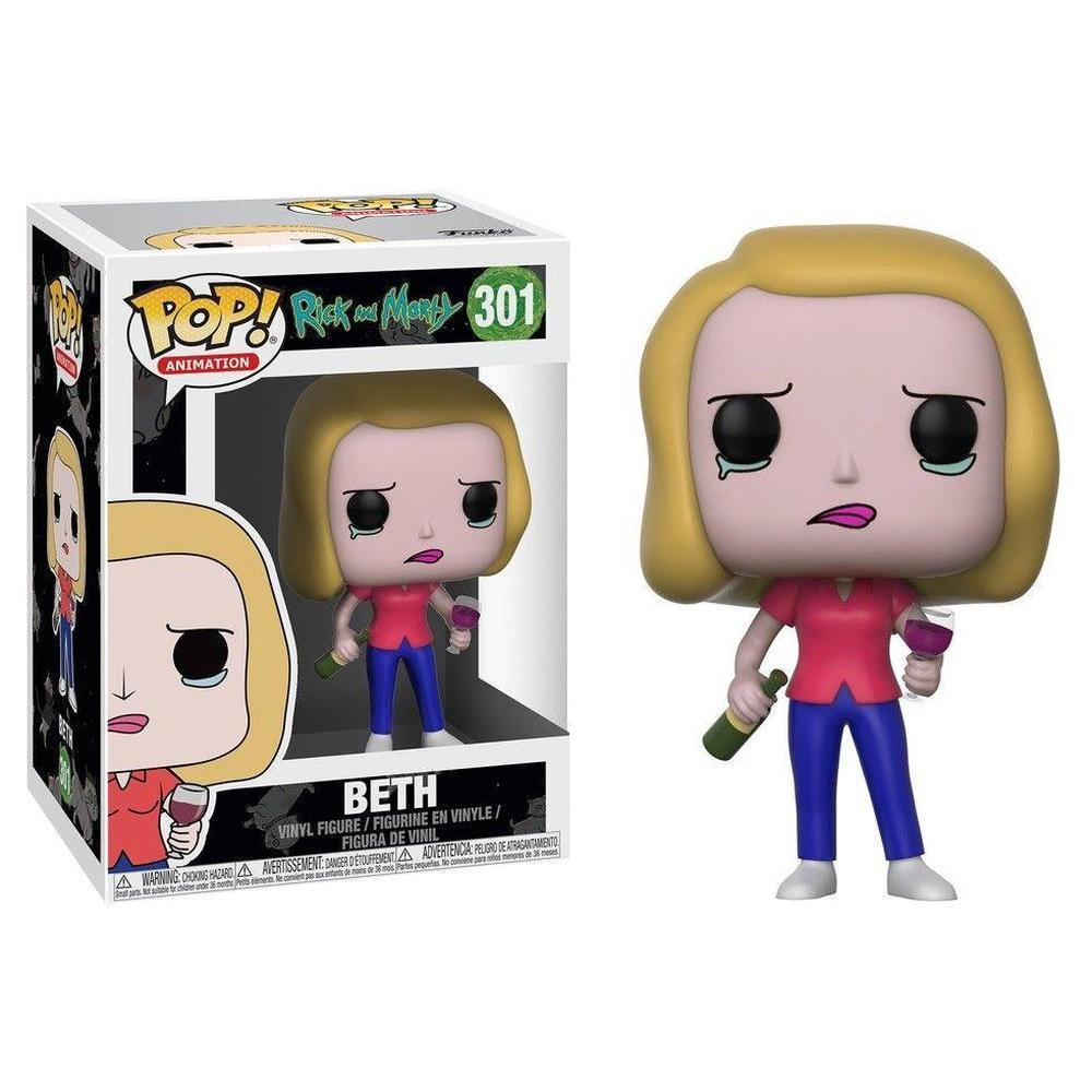 Funko Pop! POP Animation: R&M S3- Beth w/ Wine Glass-Fumble Pop!