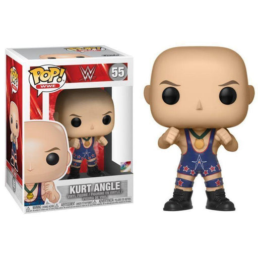 FUNKO POP! WWE: WWE - Kurt Angle (Ring Gear) (Vinyl Figure)-Fumble Pop!