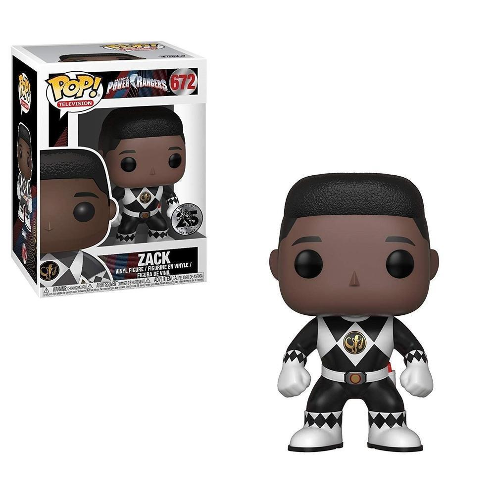 Funko Pop! Television: Power Rangers - Black Ranger - Zack (Vinyl Figure)-Fumble Pop!