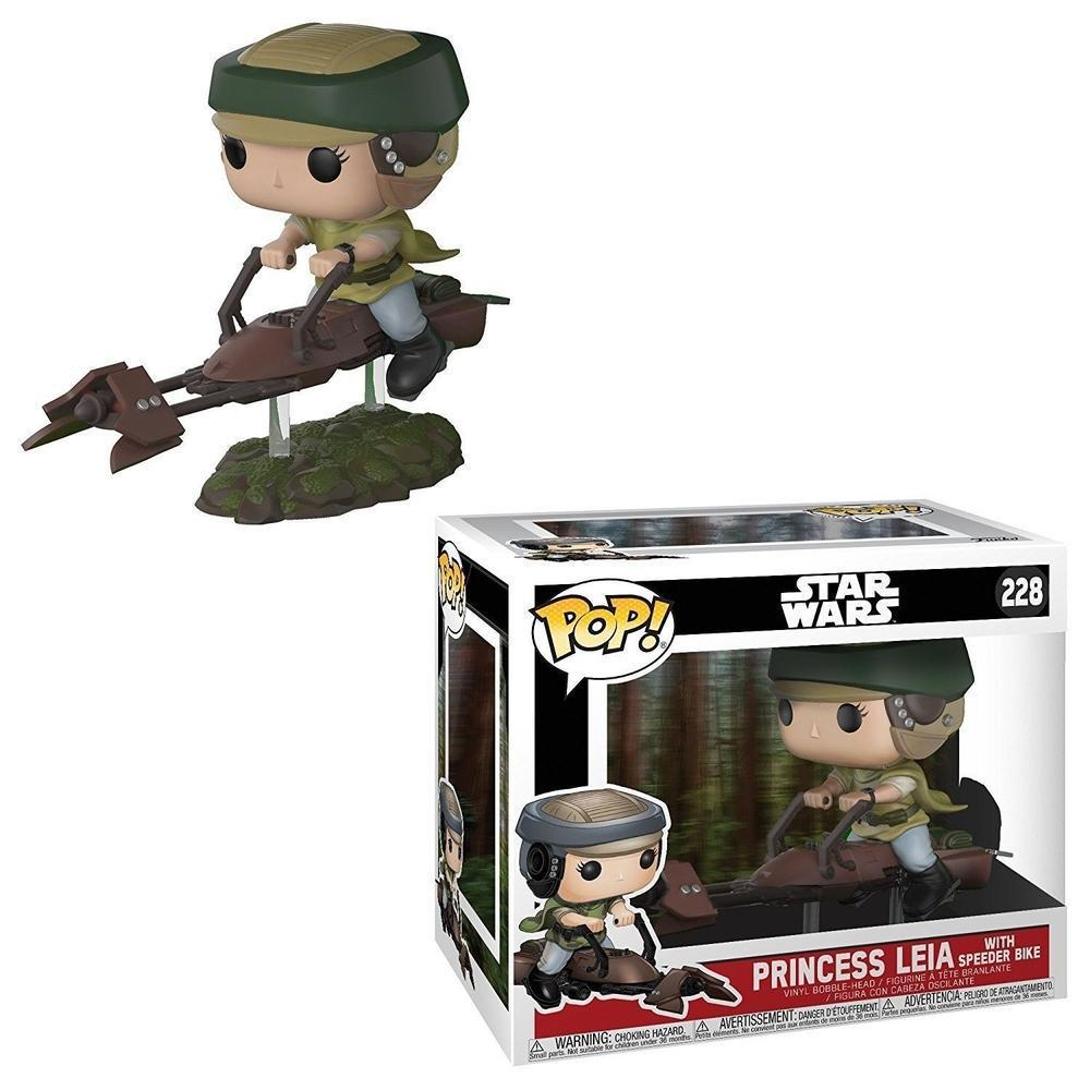 Funko Pop! Deluxe: Leia on Speeder Bike (Vinyl Figure)-Fumble Pop!