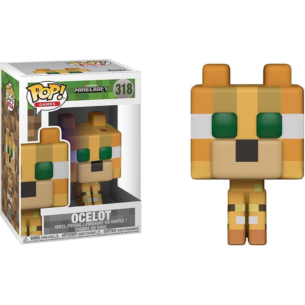 Funko POP Games: Minecraft - Ocelot w/ Chase-Fumble Pop!