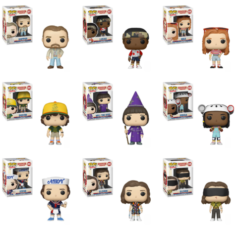 Funko Pop! Movie: Stranger Things Complete Set of 9 Season 3 (Pre-Order)