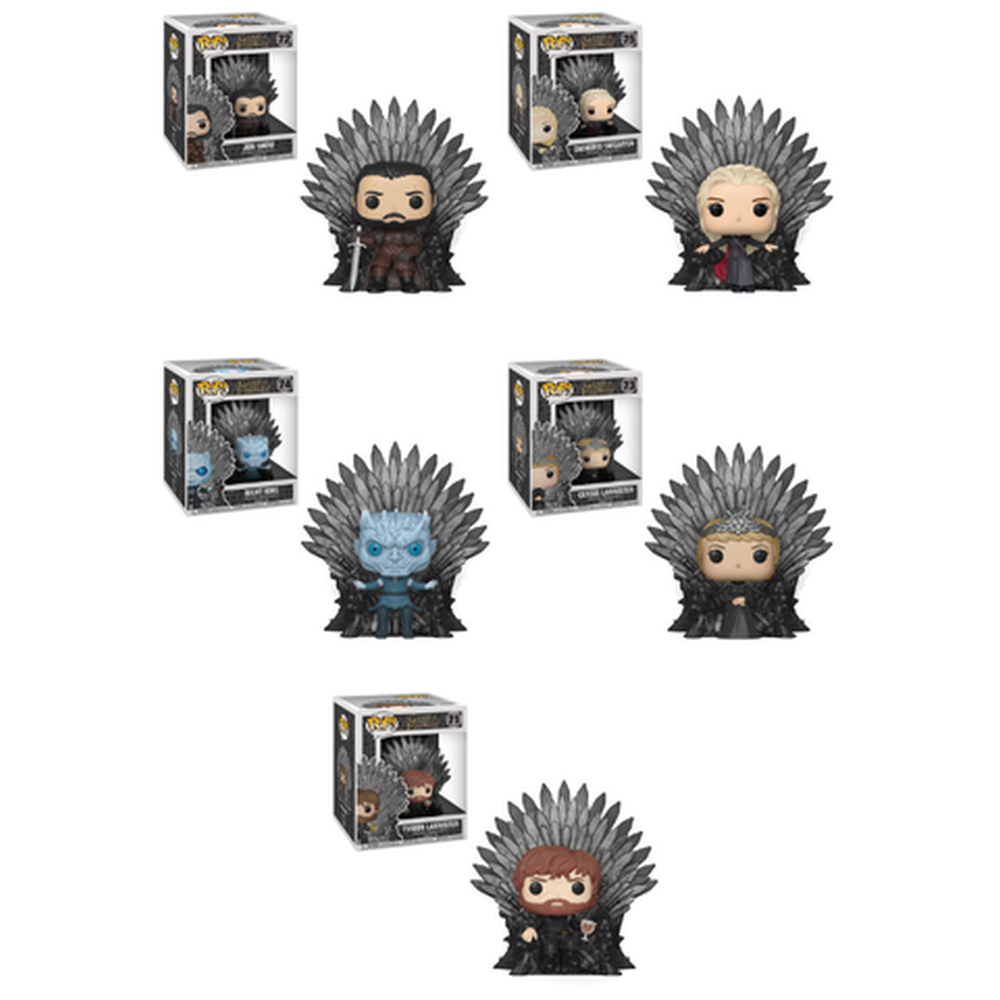 Funko Pop! Television: Game of Thrones Complete Set Of 5 Iron Thrones (Pre-Order)-Fumble Pop!