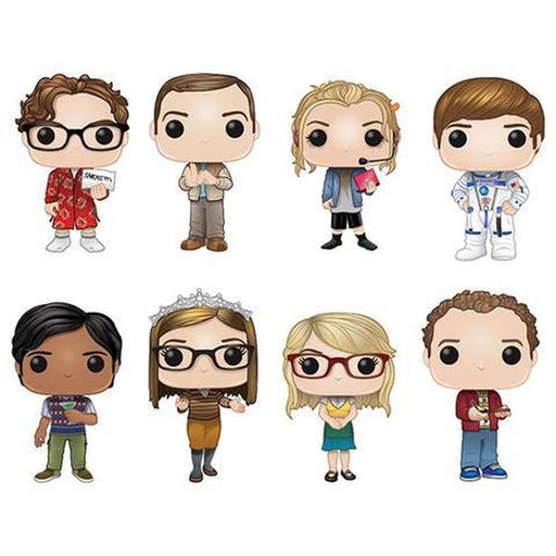 The Big Bang Theory Funko Pop! Complete Set of 8 (Pre-Order)-Fumble Pop!