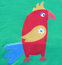 Pedro parrot emerald green long sleeved t-shirt
