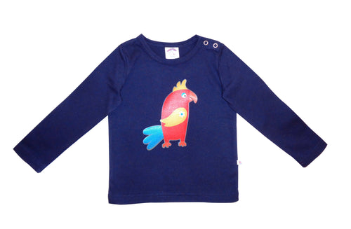 Pedro parrot navy long sleeved t-shirt