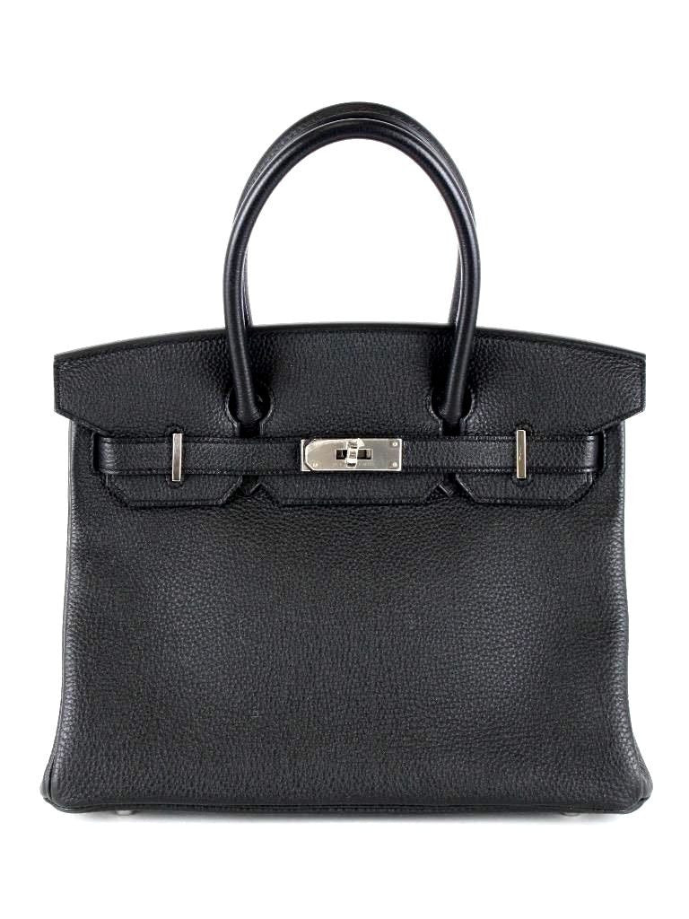 Hermes New 30 cm Black Togo Birkin Bag