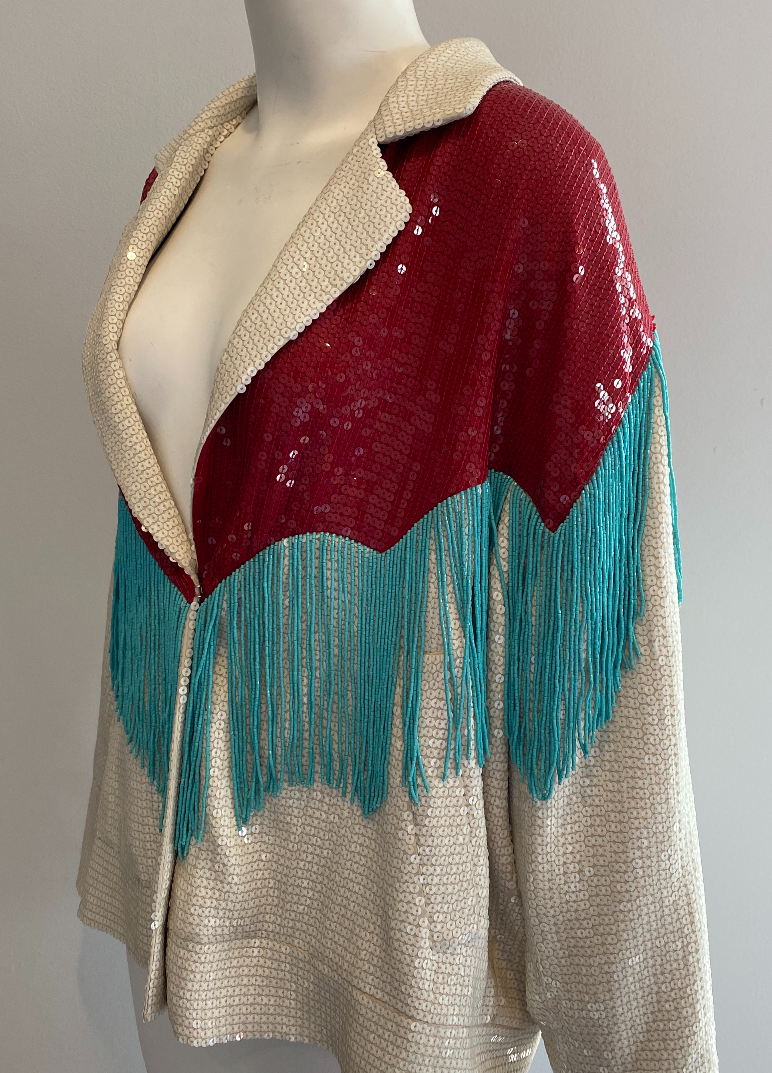 Gucci Sequin and Fringe Jacket Size 44