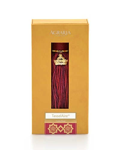 AGRARIA TasselAire Luxury Fragrance Tassel Freshener, Single (Cedar Rose)