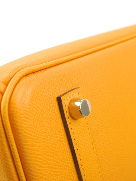 HERMES 35cm Birkin Yellow Juane d'or in Epsom Leather with Permabrass Hardware R Stamp 2014