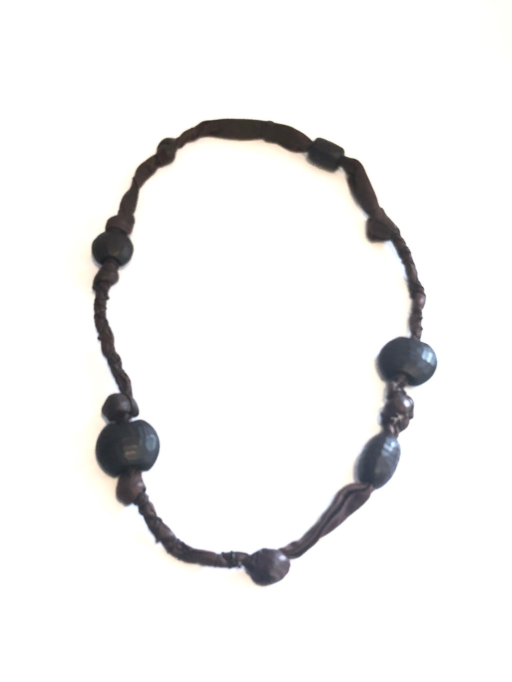 Henry Beguelin Leather and Large Bead Necklace