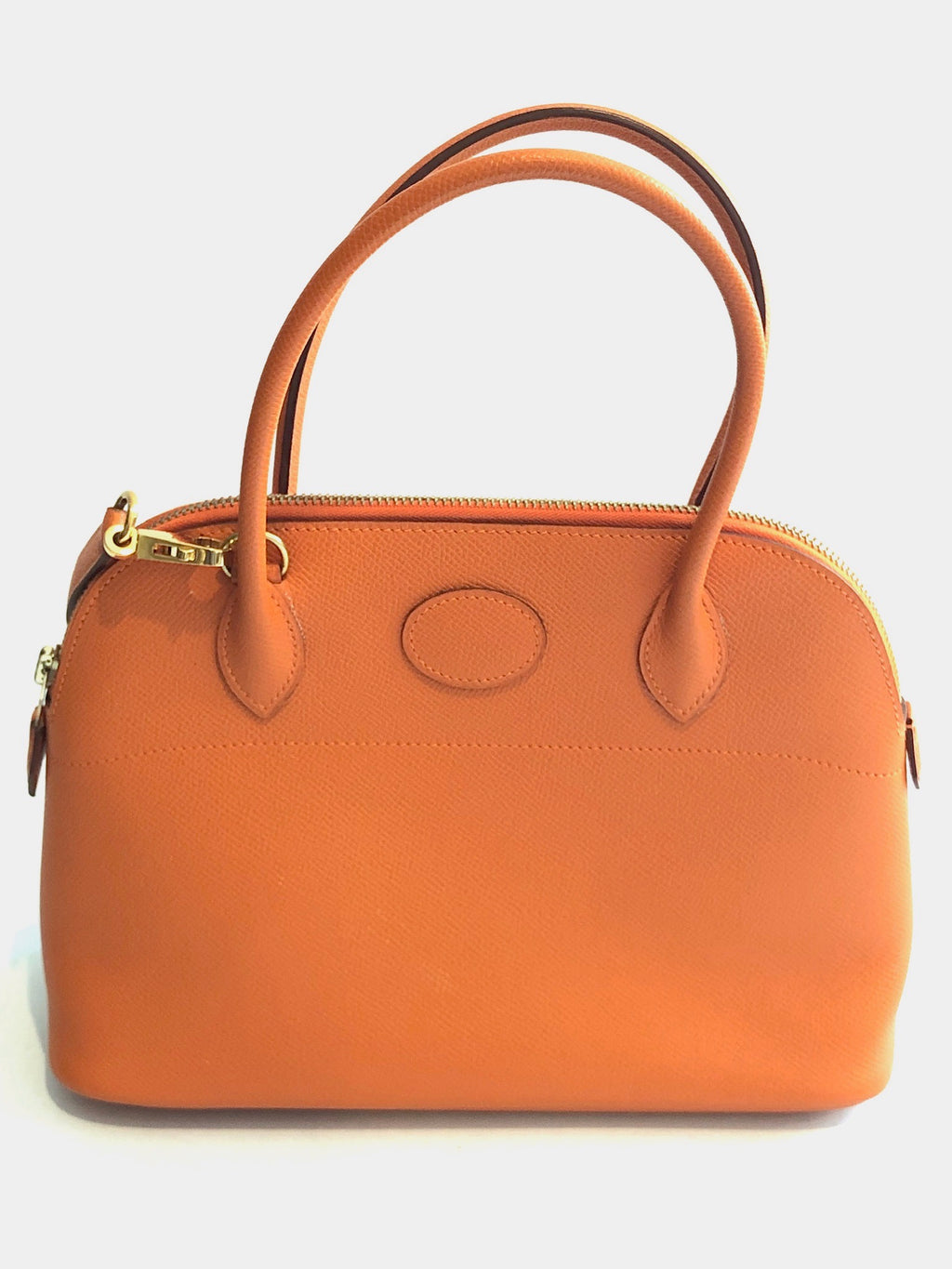 Hermes Orange Leather Bolide 27cm Bag
