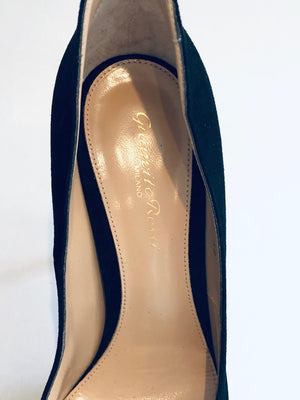 Gianvito Rossi New Black Suede Pumps Size 38