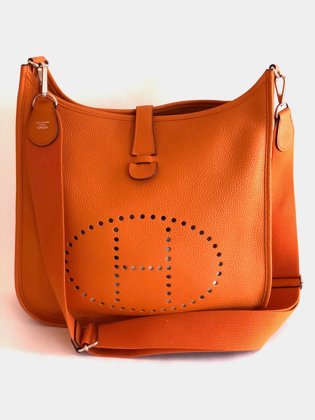 Hermes Evelyne III GM Orange Shoulder Bag R Stamp