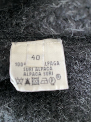 Hermes Gray Alpaca Long Cardigan Wrap Sweater Size 40