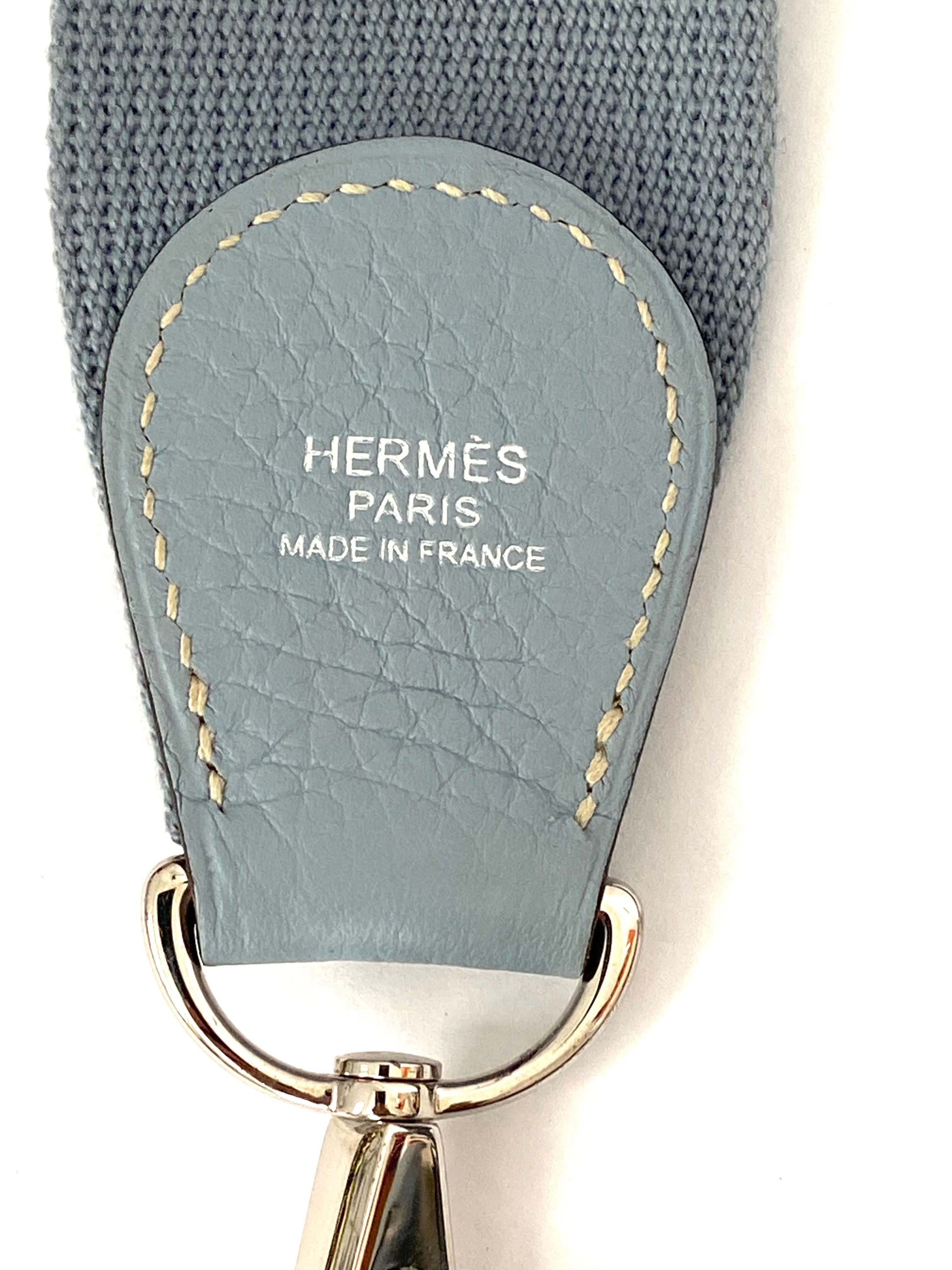 Hermes Clemence Evelyne III 33 Leather Blue 2012 Omega Stamp with Box