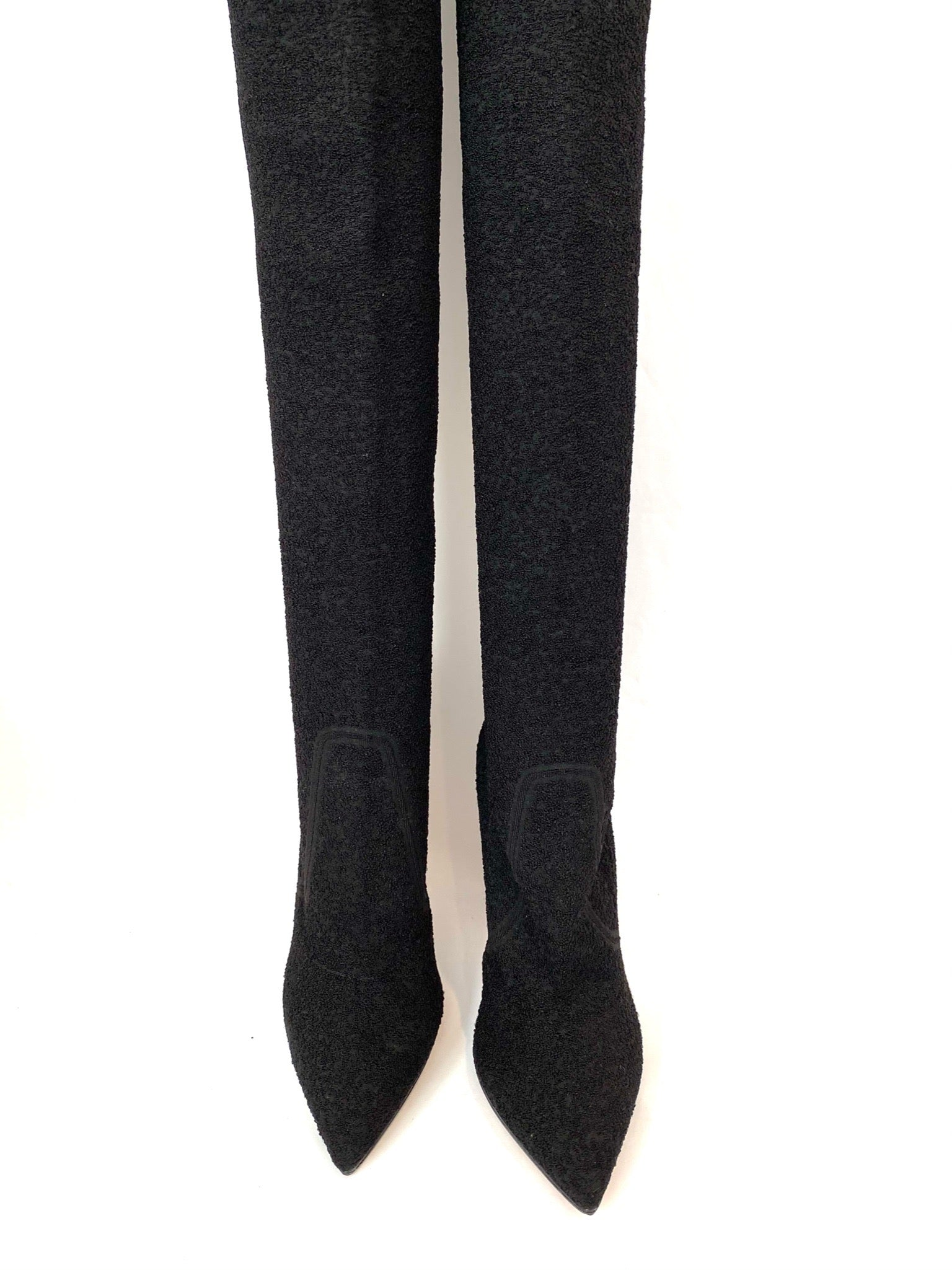 Gianvito Rossi Sweater Knee High Boots Size 37.5