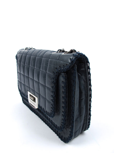 Chanel Navy Leather Flap Bag