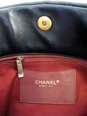 CHANEL Mademoiselle Large Bowler Bag Lambskin Leather with Bijoux Chain