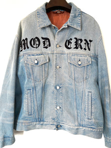 Gucci Modern Denim Jacket with Floral Embroidery Men's Size 50