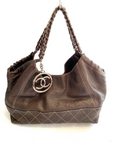 Chanel Caviar Leather Coco Cabas Bag Rose Gold Hardware