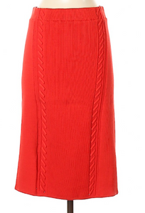 Rag & Bone Red Knit Skirt Size Medium