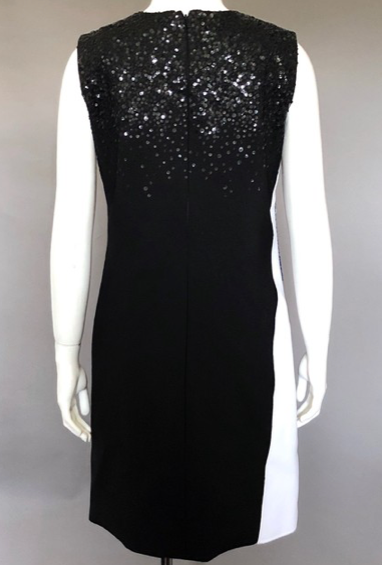 Oscar de la Renta Multi Sequin Embellished Cocktail Dress Size 4