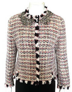 Giambattista Valli Tweed Jacket with Crystals Size 40