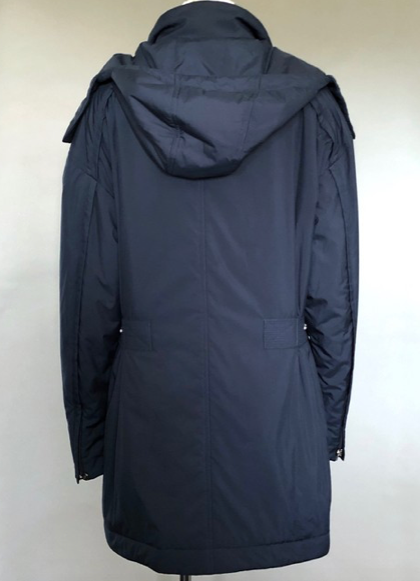 Chanel Navy Blue Parka Coat Size 38