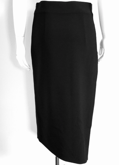 Brunello Cucinelli Black Asymmetrical Pencil Skirt Size 40