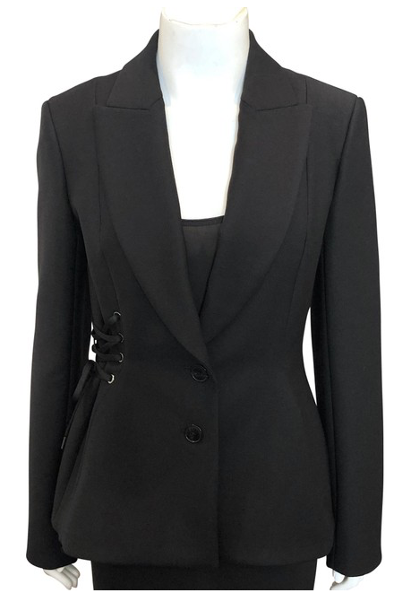 Christian Dior Black Lace Up Blazer