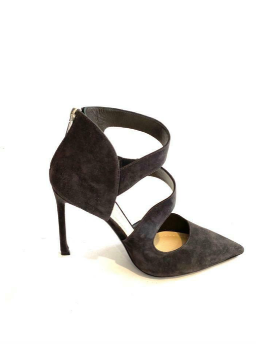 Christian Dior New Grey Suede Heels with Zippers Size 38 Recent Collection