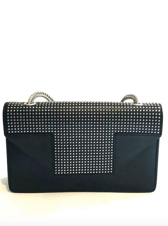 Saint Laurent Black Leather Stud Small Betty Bag