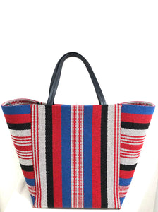 Celine Striped Canvas Cabas Phantom Tote Resort 2016 by Phoebe Philo