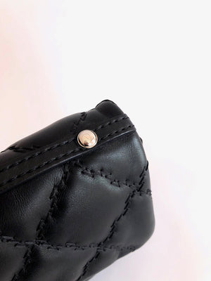 Chanel Black Quilted Leather Flap Bag with Shoulder Strap