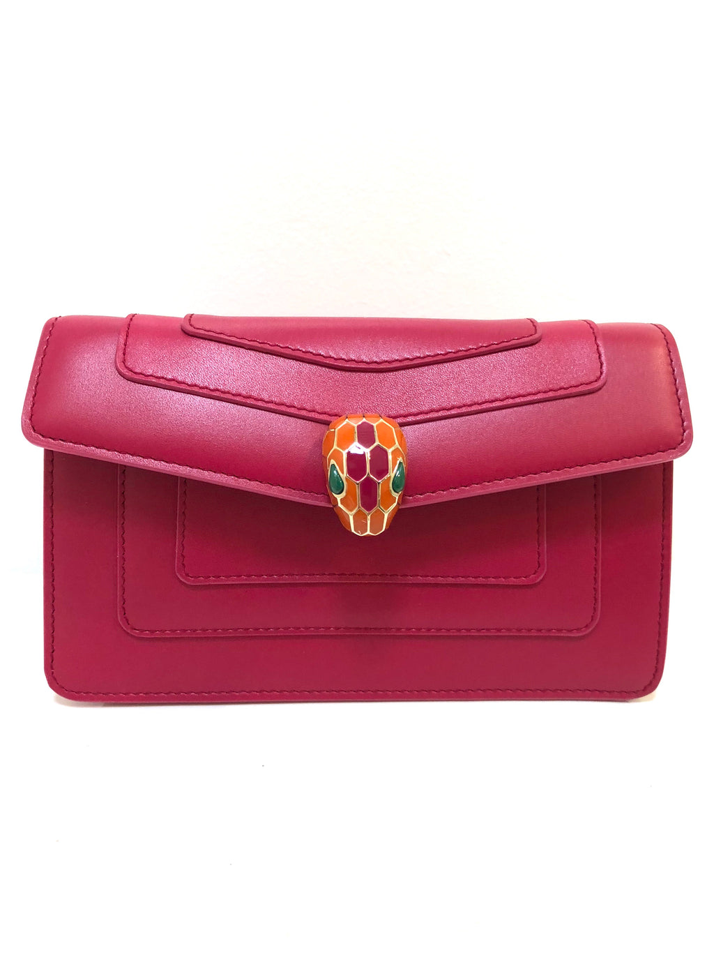 Bvlgari Pink Forever Serpenti Clutch Bag