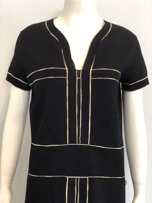 Chanel Black Knit Dress Size 40
