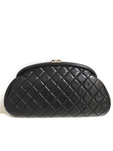 8407b3110d3ee3 Chanel Black Lambskin Leather Quilted Timeless Clutch with Silvertone –  Socialite Auctions