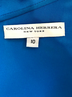 Carolina Herrera Blue Dress Size 10