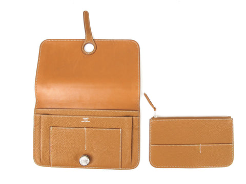 HERMES Dogon Wallet Togo Leather